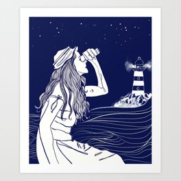 Where are you, my love? Art Print
