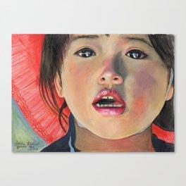 LITTLE GIRL FROM ANTOFAGASTA DE LA SIERRA Canvas Print