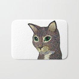 Curly Cat Bath Mat