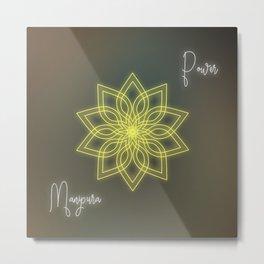 Solar plexus chakra balancing mandala Metal Print