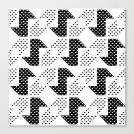Clover&Nessie Black/White Canvas Print