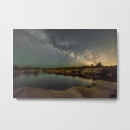 Milkyway at Halibut Point State Park quarry Metal Print