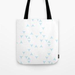 White_Blue_Triangles Tote Bag