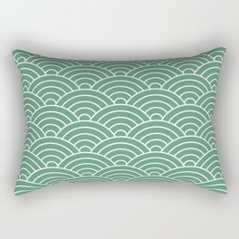 Fan pattern in green Rectangular Pillow