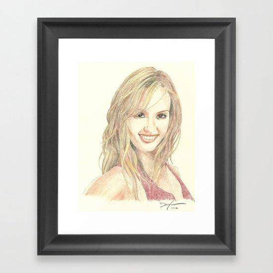 Jessica Alba Framed Art Print