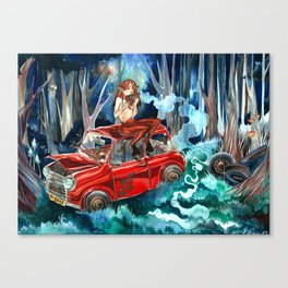 Pan in the woods Canvas Print
