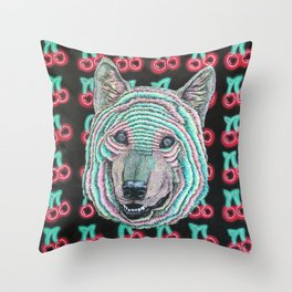 The Power Wolf Parties with God Throw Pillow