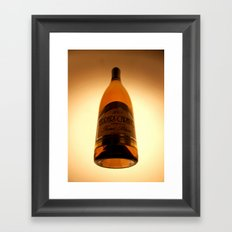 The bottle of my eye Framed Art Print