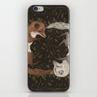 iPhone & iPod Skins featuring Foxes by Jessica Roux
