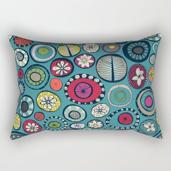 Honolulu hoops blue Rectangular Pillow