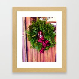 Winter in Vermont Framed Art Print