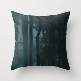 In a magical woods Throw Pillow