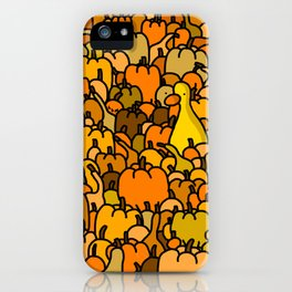 Duck in a Pumpkin Patch iPhone Case