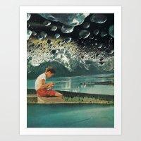 Fishing Boats (2015) Art Print