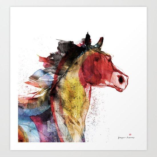 Horse (Running Happiness Detail) Art Print