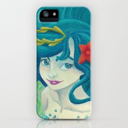 Teal Mermaid iPhone Case
