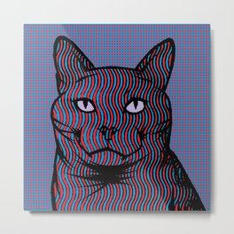 Wavy Catnip Metal Print