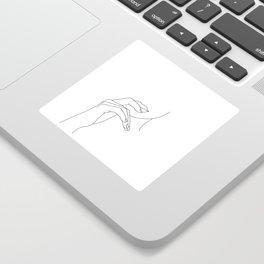 Hands line drawing illustration - Grace Sticker