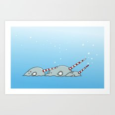 Narwhal magic Art Print