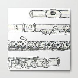 Flöte Metal Print