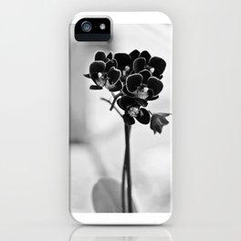 Vegetal Portrait II: Black Orchid iPhone Case