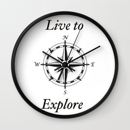 Live to Explore Wall Clock