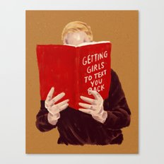 Studying Canvas Print