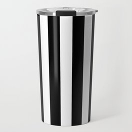 Classic Black and White Football / Soccer Referee Stripes Travel Mug