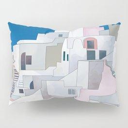 greece houses santorini Pillow Sham