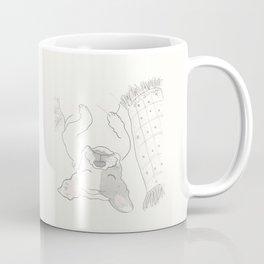 Topsy Turvy Snoozing Frenchie French Bulldog Black & White Coffee Mug