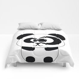 Cute Panda Illustration Comforters