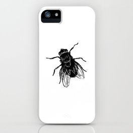 Drawing house-fly iPhone Case
