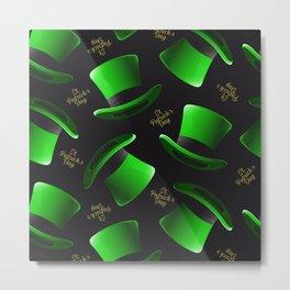 saint patricks day hat pattern Metal Print