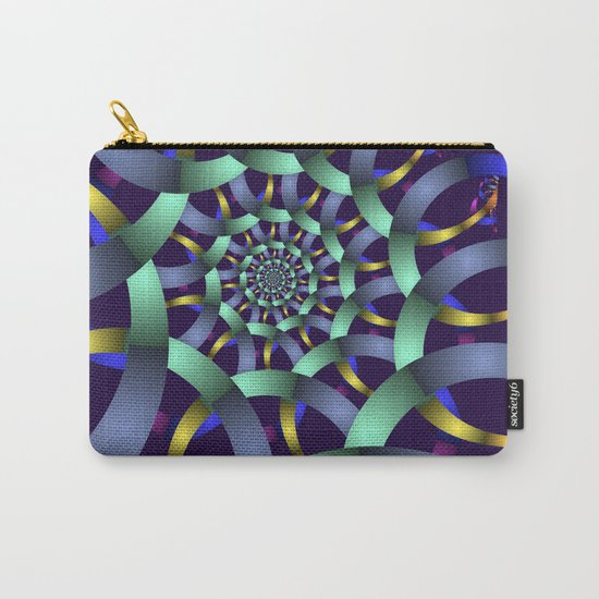The turquoise spiral Carry-All Pouch