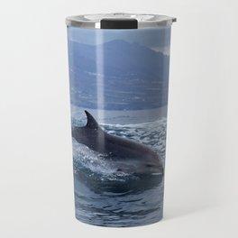 Wild and free bottlenose dolphin Travel Mug