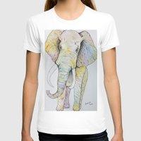 boho T-shirts featuring Boho Elephant by Maya Antoni