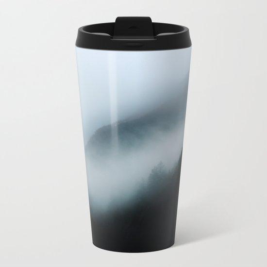 Foggy British Columbia Metal Travel Mug