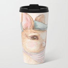 Bunny With Hat Metal Travel Mug