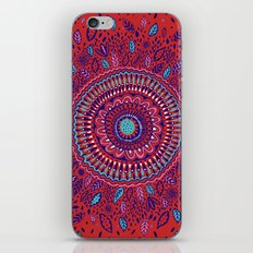 Red and Blue Mandala  iPhone & iPod Skin