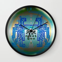 Nice to meet You / Robotic Lab Wall Clock