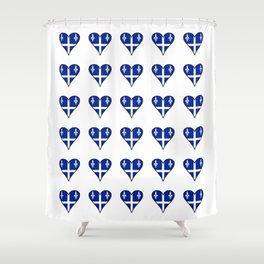 Flag of quebec heart– Canada, montreal,Saint Laurent,Quebecois,belle province, trois rivières. Shower Curtain