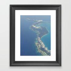 Flying Over Paradise Framed Art Print