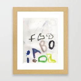 Letters for CORM Framed Art Print