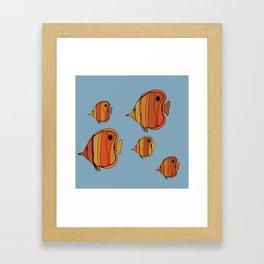 Orange Butterfly Fish Framed Art Print