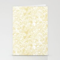 zodiac Stationery Cards featuring White Zodiac by Nina Y