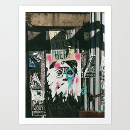 Williamsburg Face Art Print