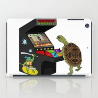 ninja turtle iPad Cases featuring Arcade Ninja Turtle by Michowl
