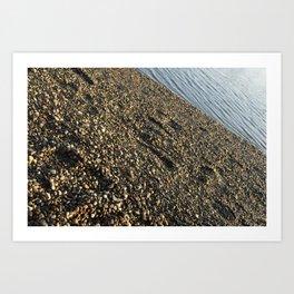 Water meets Land Art Print
