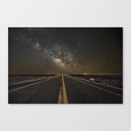 Go Beyond - Road Leads Into Milky Way Galaxy Canvas Print