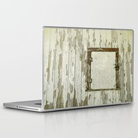 cabin Laptop & iPad Skins featuring Yellow Cabin by Nancy Smith